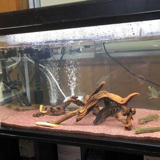 【中古】熱帯魚用ガーネットサンド(約18kg)