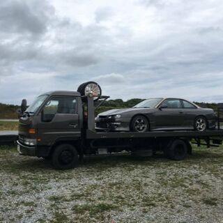 不動車をセーフティローダーで運びます 積載車 車の輸送