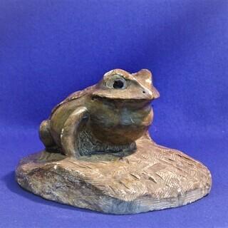 石蛙 作家不明 カエル 彫刻