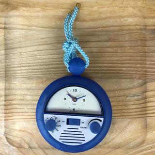 #2416 浴室ラジオ 時計付き