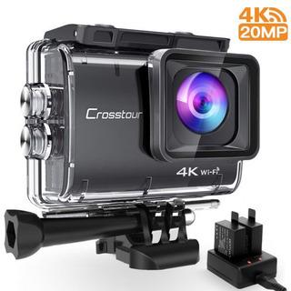 アクションカメラ 4k 2000万画素 Wi-Fi接続