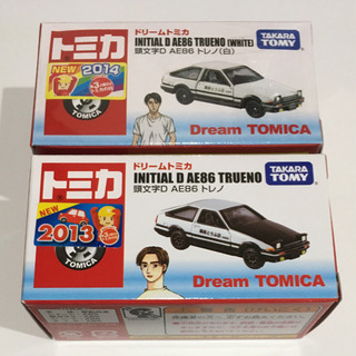 ドリームトミカ 頭文字D AE86 トレノ 2種類セット