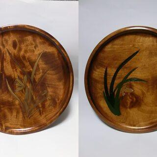 漆器 お盆 未使用 (2枚)