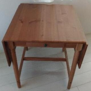 【値下げしました!】IKEA INGATORP テーブル 伸縮 折り畳み