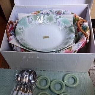 美濃焼 水峰窯 カレー皿 5枚 スプーン5本 箸置き5点 …