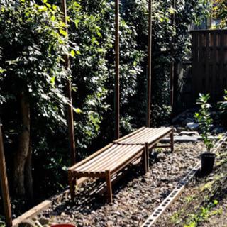 野外の木製 ベンチ - 京都市