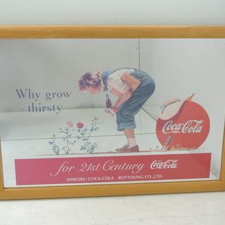 コカコーラのパブミラー 四国限定デザイン♪ ビンテージ雑貨
