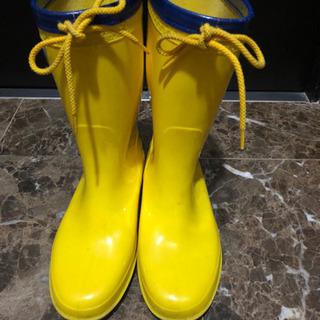 黄色いレインブーツ 23センチ