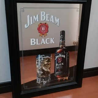 JIM BEAM ミラー インテリア 中古 *近隣・通勤途中であ...