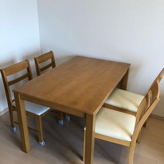 ニトリ ダイニングテーブル 椅子 4脚