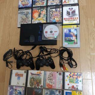 【ご成約】PS2本体+ソフト17本セット