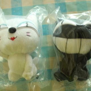 新品 クロネコヤマトの黒猫と白猫のぬいぐるみ