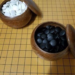 脚付き本格的碁盤  碁石セット