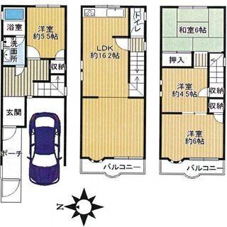 新石切駅徒歩8分 駐車スペース1台♪ 室内、大変綺麗なご使用状態です♪
