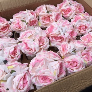 ピンクのバラ 陶器付き 12個入り! オフィスに置くとかわいいよ