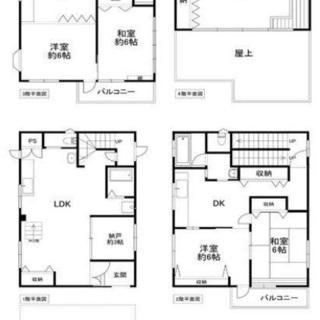 十三エリア 収益物件、民泊としても使える一戸建て♫ 5LDDKK+N