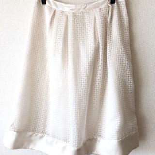 白色スカート② 春夏用 ELLE