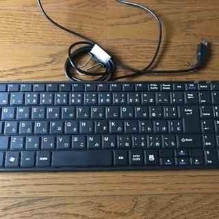 キーボード中古【サンワサプライ USBスリムキーボード ブラック...