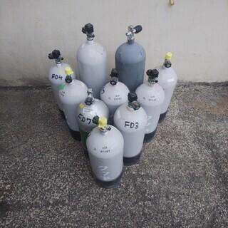 NJ057 空気ボンベタンク 使用可能 10本セット