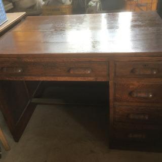 木製事務机