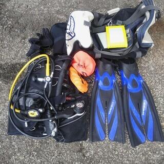 NJ066 ダイビング用品 マリンスポーツ 一式 レギュレーター付き