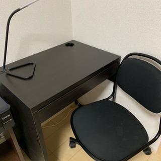 0円‼︎  4点セット!パソコンデスク、椅子、スタンド、床…