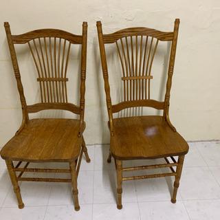オーク材  椅子