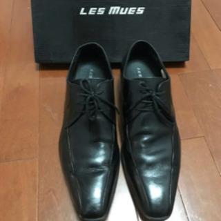 ビジネスシューズ ストレートチップ 黒 LES MUES 25cm