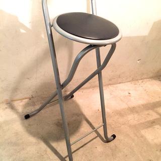 【格安】⭐️折りたたみパイプ椅子(シルバー)・B⭐️  オシャレ ...