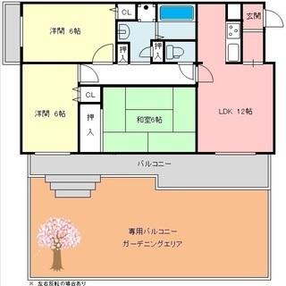 広々専用庭付賃貸マンション 3LDK 72㎡