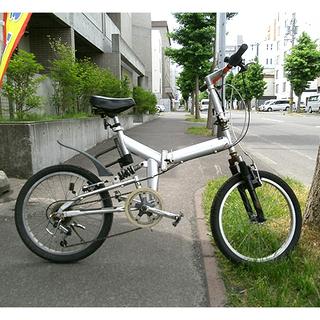 札幌【20インチ 折畳み自転車 6段変速】フロント&リアにサスペン...