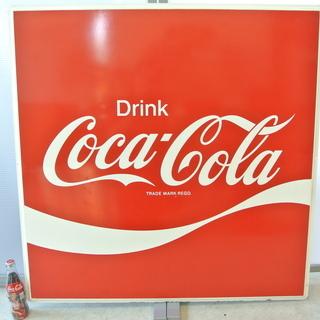 特大 90cm×90cm コカコーラ ブリキ 看板 ビンテージ ...
