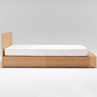 【無印良品】美品 シングルベッド ベッドフレームのみ  収納引き出し付