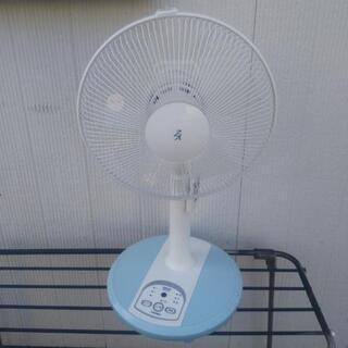 美品 山善 リモコン付き 扇風機