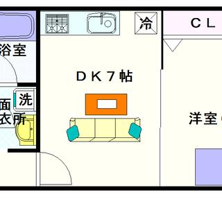 【サウスパラジェ】4号タイプ!1DKタイプ!贅沢な空間にウットリ♪