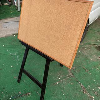 【内容変更】イーゼル 立て看板 コルクボード、ホワイトボード計2...