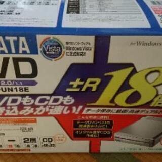 DVDドライブ IODATA DVR-UN18E 外付け USB 高速