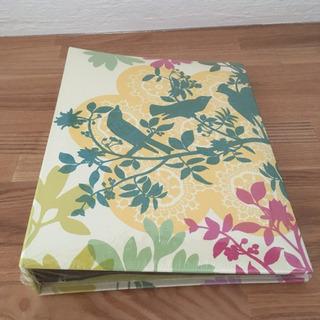 フォトアルバム  小鳥と花の絵柄