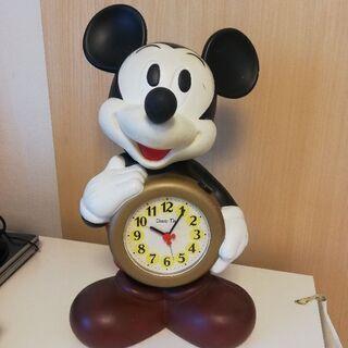 ディズニータイム ミッキーマウスおしゃべり目覚まし置時計 used