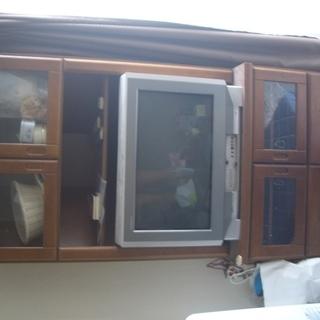 木製のテレビ台