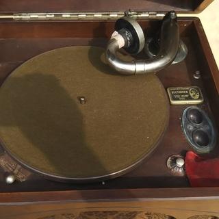 木製箱型蓄音機 レトロ