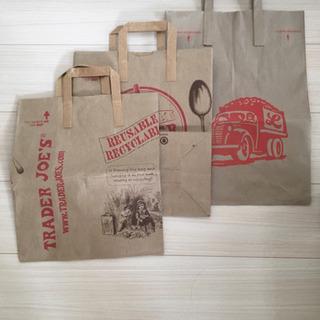 3枚セット - トレーダー・ジョーズ(Trader Joe's)紙袋