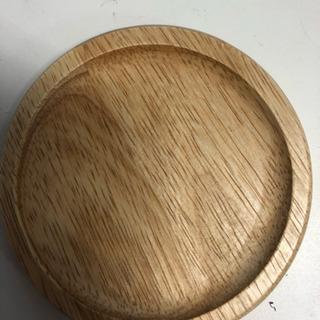 木のコースター 6枚セット  直径9.5cm厚み8mm