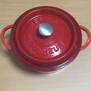 ストウブ風 鋳物ホーロー鍋