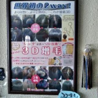 3D増毛モニター!募集🌐