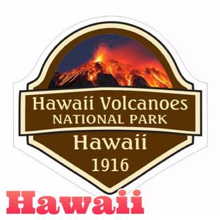ハワイ ボルケーノ国立公園 ステッカー Made in USA ...