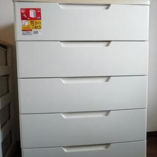 ホワイトの衣類収納5段【お譲りします】