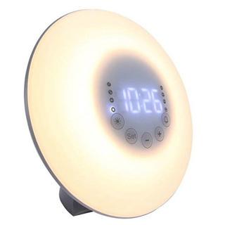 目覚ましライト 朝日模擬光目覚まし時計 ベッドサイドランプ