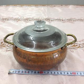 古い銅鍋  両手鍋