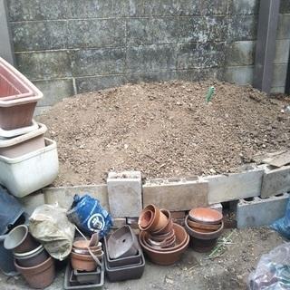 園芸用の土を無料で差し上げます。(ただし、引き取りに来てください)